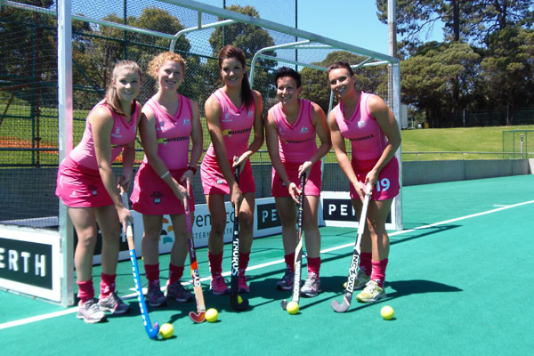 The Pink Hockeyroos