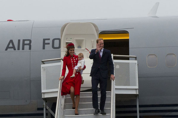 Royal Tour touches down in Wellington