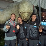 Newcastle United star struck at WETA Workshop