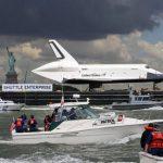 Space shuttle Enterprise docks